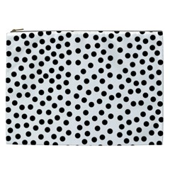 Black Polka Dots Cosmetic Bag (xxl) by Justbyjuliestore