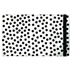 Black Polka Dots Apple Ipad 2 Flip Case by Justbyjuliestore