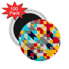 Colorful Shapes 2 25  Magnet (100 Pack)  by LalyLauraFLM