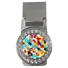 Colorful Shapes Money Clip (cz) by LalyLauraFLM