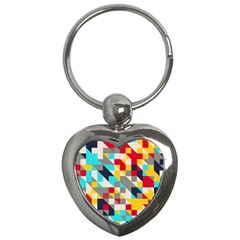 Colorful Shapes Key Chain (heart) by LalyLauraFLM