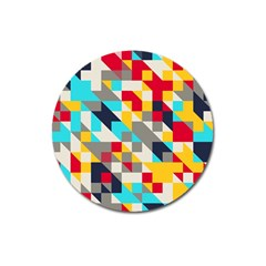 Colorful Shapes Magnet 3  (round) by LalyLauraFLM