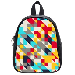 Colorful Shapes School Bag (small) by LalyLauraFLM