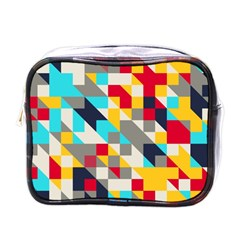 Colorful Shapes Mini Toiletries Bag (one Side)