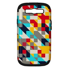 Colorful Shapes Samsung Galaxy S Iii Hardshell Case (pc+silicone) by LalyLauraFLM