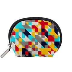 Colorful Shapes Accessory Pouch (small) by LalyLauraFLM