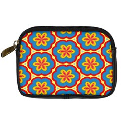 Floral Pattern Digital Camera Leather Case
