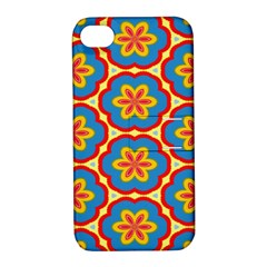 Floral Pattern Apple Iphone 4/4s Hardshell Case With Stand by LalyLauraFLM