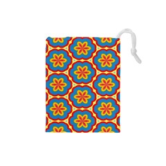 Floral Pattern Drawstring Pouch (small)