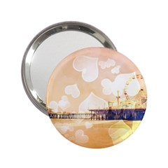 Bokeh Hearts Santa Monica Pier Handbag Mirror (2 25 ) by stineshop