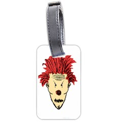 Evil Clown Hand Draw Illustration Luggage Tag (two Sides) by dflcprints