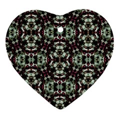 Geometric Grunge Heart Ornament by dflcprints