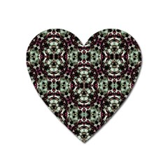 Geometric Grunge Magnet (heart) by dflcprints
