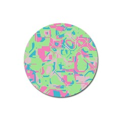 Pastel Chaos Magnet 3  (round) by LalyLauraFLM