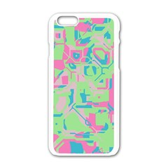 Pastel Chaos Apple Iphone 6 White Enamel Case by LalyLauraFLM