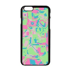 Pastel Chaos Apple Iphone 6 Black Enamel Case by LalyLauraFLM