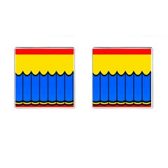 Colorful Curtain Cufflinks (square) by LalyLauraFLM