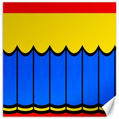 Colorful Curtain Canvas 16  X 16
