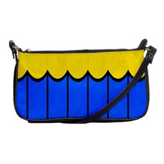 Colorful Curtain Shoulder Clutch Bag by LalyLauraFLM