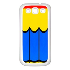 Colorful Curtain Samsung Galaxy S3 Back Case (white) by LalyLauraFLM