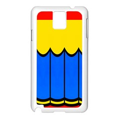 Colorful Curtain Samsung Galaxy Note 3 N9005 Case (white)