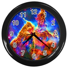 Cosmic Mind Wall Clock (black) by icarusismartdesigns