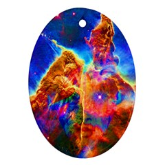 Cosmic Mind Oval Ornament (two Sides) by icarusismartdesigns