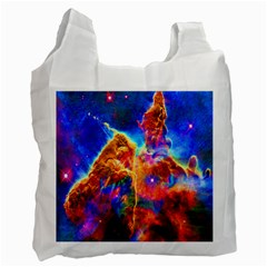 Cosmic Mind White Reusable Bag (one Side) by icarusismartdesigns