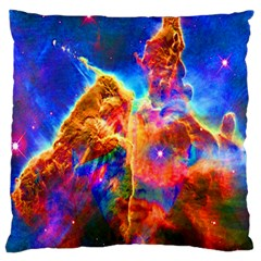 Cosmic Mind Large Cushion Case (two Sided)  by icarusismartdesigns