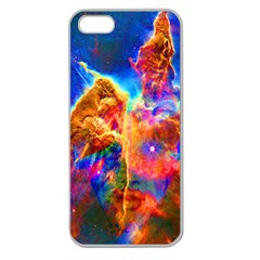 Cosmic Mind Apple Seamless Iphone 5 Case (clear) by icarusismartdesigns