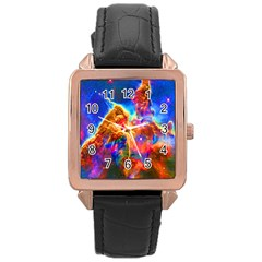 Cosmic Mind Rose Gold Leather Watch  by icarusismartdesigns