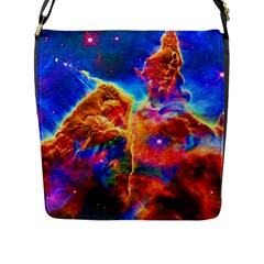 Cosmic Mind Flap Closure Messenger Bag (large) by icarusismartdesigns
