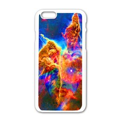 Cosmic Mind Apple Iphone 6 White Enamel Case by icarusismartdesigns