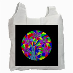 Star Seeker White Reusable Bag (one Side) by icarusismartdesigns