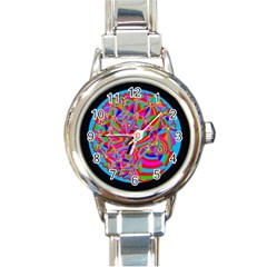 Magical Trance Round Italian Charm Watch by icarusismartdesigns