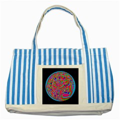 Magical Trance Blue Striped Tote Bag by icarusismartdesigns