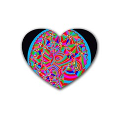 Magical Trance Drink Coasters 4 Pack (heart)