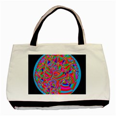 Magical Trance Twin Sided Black Tote Bag by icarusismartdesigns