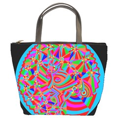 Magical Trance Bucket Handbag by icarusismartdesigns