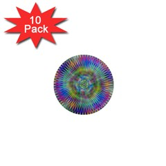 Hypnotic Star Burst Fractal 1  Mini Button Magnet (10 Pack) by StuffOrSomething