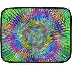 Hypnotic Star Burst Fractal Mini Fleece Blanket (two Sided) by StuffOrSomething
