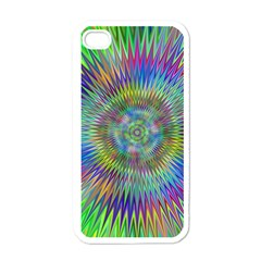 Hypnotic Star Burst Fractal Apple Iphone 4 Case (white) by StuffOrSomething