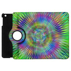 Hypnotic Star Burst Fractal Apple Ipad Mini Flip 360 Case by StuffOrSomething