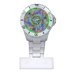 Hypnotic Star Burst Fractal Nurses Watch by StuffOrSomething