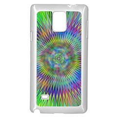 Hypnotic Star Burst Fractal Samsung Galaxy Note 4 Case (white) by StuffOrSomething