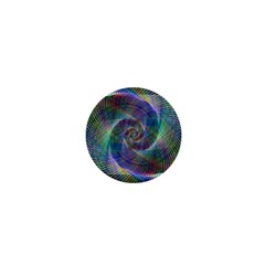 Psychedelic Spiral 1  Mini Button Magnet by StuffOrSomething