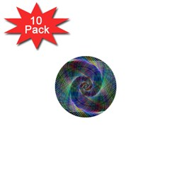 Psychedelic Spiral 1  Mini Button (10 Pack) by StuffOrSomething