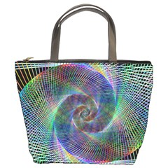 Psychedelic Spiral Bucket Handbag by StuffOrSomething