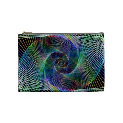 Psychedelic Spiral Cosmetic Bag (medium)