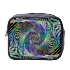 Psychedelic Spiral Mini Travel Toiletry Bag (two Sides) by StuffOrSomething